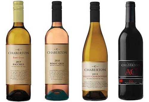 Selection of Bottles of Chaberton Wine
